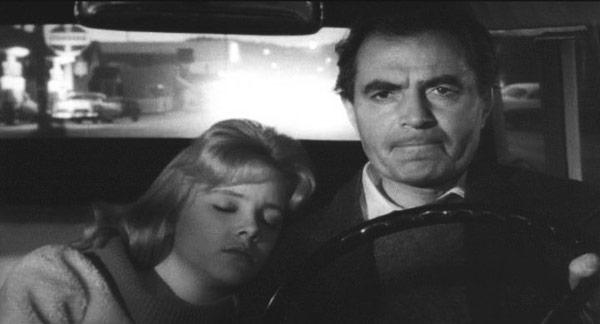 Foto 1, 2 en 3: Carl Mydans , Vladimir Nabokov in car, Ithaca, 1958